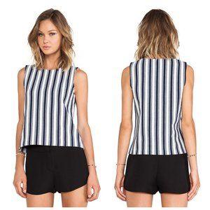 THEORY Knit Striped Marina Sleeveless Top